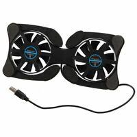 USB 2.0 externe cooler pad portable refroidisseur 2 ventilateur noir I2A5
