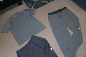 Lot of Rare Mens Lululemon Jogger Pants, Shorts and Tee sz L