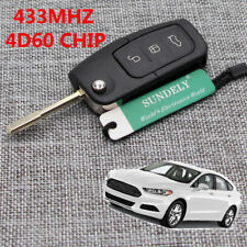 HOT 3 BUTTON REMOTE FLIP KEY FOB for FORD FOCUS MONDEO TRANSIT CONNECT, 433Mhz