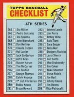 1966 Topps #267 4th Series Checklist 1 EX-EX+ WRINKLE FREE SHIPPING