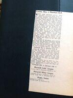M6-3 Ephemera 1967 Football Report Yarmouth Reserves 1 Norman Old Boys 0