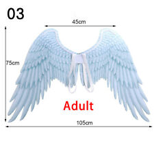 3D Angel Wings Halloween Costume Mardi Gras Theme Party Cosplay Black Devil Prop
