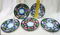 (5) five near perfect dinner plates luneville france late 1800? solid heavy  old