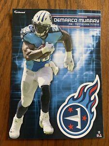 DeMARCO MURRAY 2017 Tennessee Titans uniform w/ Logo Fathead Mini Card #10  L@@K