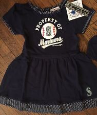 NWT Seattle Mariners Girls 2 Piece Toddler Jersey Dress 2T