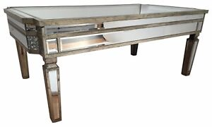 Mirrored Glass Venetian Coffee Table Living Room Furniture Occasional  End Side