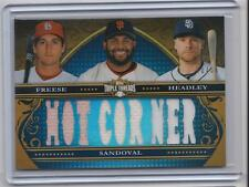 2013 TOPPS TRIPLE THREADS - COMBO RELIC - P SANDOVAL / C HEADLEY / D FREESE /36