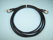 RG-58A/U COAX CABLE JUMPER 9 FT SEALED PL-259s PROFESSIONALLY MADE CB HAM RADIO