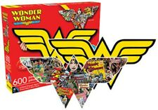 Wonder Woman Logo and Collage Double Sided 600pc Puzzle