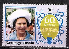 Tuvalu British Queen Elizabeth ll 60 Birthday stamp MNH