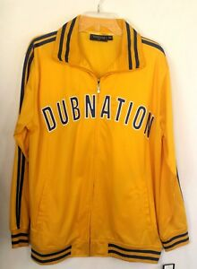 Golden State Warriors Renegade New Youth Kids Dub Nation Nike Gold Blue Jacket