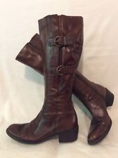 Jones Boot Maker Brown Knee High Leather Boots Size 38