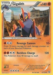 BW DRAGONS EXALTED POKEMON HOLO CARD - GIGALITH 67/124