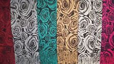 Joblot 12 Pcs Rose Flower Design Scarf Wholesale 70x200 Cm Lot 61