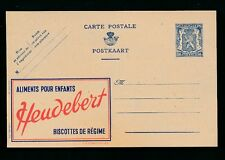 BELGIUM 1930s POSTAL STATIONERY CARD ADVERTISING HEUDEBERT INFANTS RUSKS