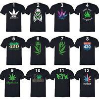 Marilyn 420 Couples Matching T-Shirts Weed Stoner Pot Leaf Marijuana Kush Shirts