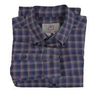 The Territory Ahead M Blue Plaid Shirt  long sleeve button up Mens Medium