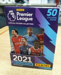Panini Premier League 2021 Official Sticker Collector's Tin (50 stickers)