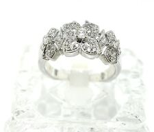18k White Gold And Diamond Ring. Size 6.5