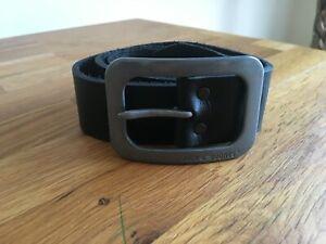 Jack Jones Men's Black Leather belt at size 85.NEW