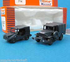 Roco Minitanks h0 714 set DKW Munga & Dodge yausencias-policía ho 1:87 OVP