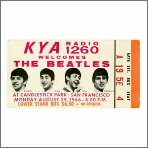 The Beatles 1966 Candlestick Park San Francisco Concert Ticket Stub (USA)