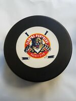 VINTAGE FLORIDA PANTHERS OFFICIAL TRENCH VEGUM MADE IN SLOVAKIA HOCKEY PUCK NHL