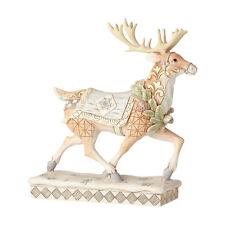 Jim Shore 'Adventure Awaits' Christmas White Woodland Reindeer 6001411
