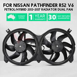 Radiator Cooling Dual Fan Assembly for Nissan Pathfinder R52 V6 Hybrid 13-17