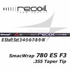 8 Shaft Iron Set 3-W -Ust Recoil 780 Es SmacWrap Black F3 R Flex .355 Taper Tip