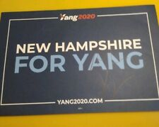 Andrew Yang 2020 Presidential Candidate signed official NH Campaign placard