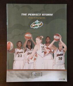 SUE BIRD SHERYL SWOOPES LAUREN JACKSON 2008 SEATTLE STORM 8X10 PROGRAM WNBA