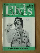 ELVIS PRESLEY MONTHLY MAGAZINE No 168