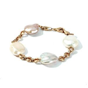Yvel Freshwater Keshi Pearl Bracelet 18k Rose Gold 7 Inches