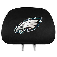 Pair of Philadelphia Eagles Head Rest Covers - NEW! Truck Car Auto Headrests