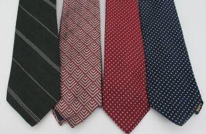 Vintage Lot of 4 Polyester Wide Men's Ties - Polka Dot Costume