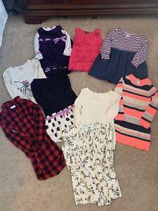 Lot of Girls Gymboree GAP kids Fall Dresses Cotton Sweater Size 5/6