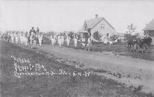 1908 Parade, Griggs County Fair, Cooperstown, North Dakota Real Photo Postcard