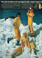 D- Publicité Advertising 1971 Les Vetements de Ski Skilon Aigle