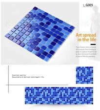 blue glass mosaic tile kitchen backsplash bathroom wall swimming pool bar tile