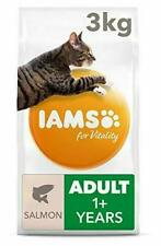 IAMS for Vitality Adult Dry Cat Food with Salmon, 3 kg 3 kg, Salmon