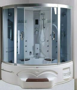 XXL Luxus LED Dampfdusche + Whirlpool-Kombi Duschtempel Komplettdusche Radio NEU
