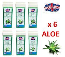 ROLL-ON Hot Wax Roller Cartridge Hair Removal Depilatory 100ml X6 Waxing Aloe
