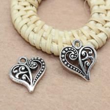 100pcs lovely retro heart-shaped alloy charm pendant jewelry accessory 14X15mm