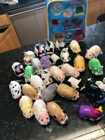 Lot of 28 used Zhu Zhu Pets Used All Works