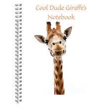 CHILDREN'S A5 NOTEBOOK STANDARD KIDS 50 BLANK PAGES NOTE PAD COOL GIRAFFE