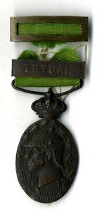 Medalla España Alfonso XIII Marruecos Tetuan medal