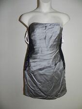 Davids Bridal Dress Plus Size 26 Strapless Mercury Lace Bands NWT