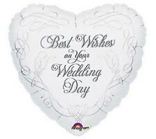 """18"""" Foil Balloon """"Best Wishes On Your Wedding Day"""""""