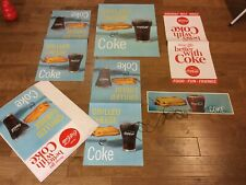COCA COLA GRILLED CHEESE & Coke NEW POS KIT 6  PIECE 1960s Authentic COKE!